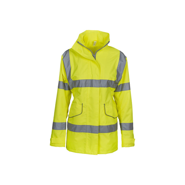 Yellow - Front - Yoko Womens-Ladies Hi-Vis Executive Jacket