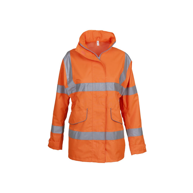 Orange - Front - Yoko Womens-Ladies Hi-Vis Executive Jacket