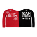 Red-Black - Front - Christmas Shop Twin Christmas Humbug Jumper