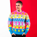 Multicoloured - Back - Christmas Shop Adults Unisex Multi Character Christmas Jumper