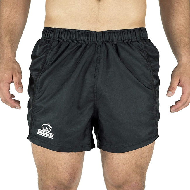 Navy - Front - Rhino Mens Auckland Rugby Shorts