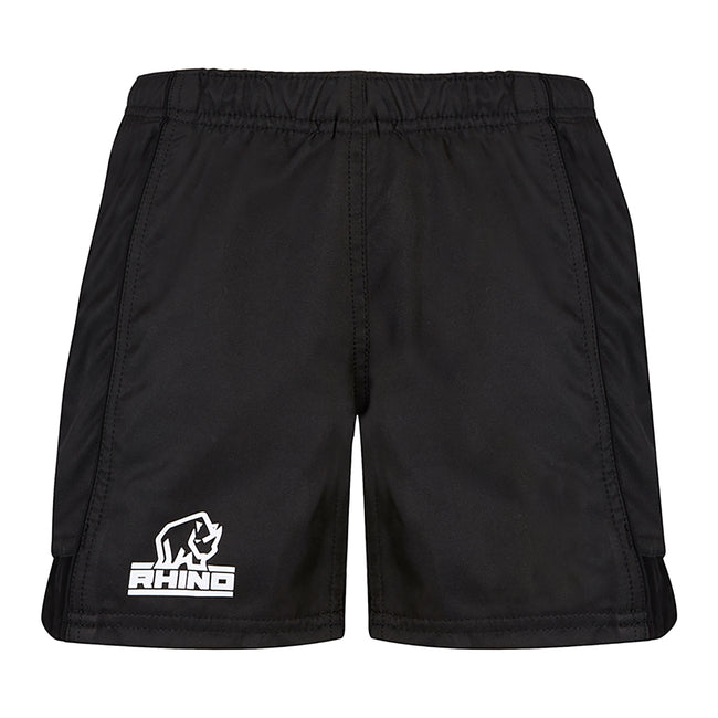 Black - Front - Rhino Mens Auckland Rugby Shorts
