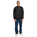 Charcoal - Front - Build Your Brand Mens Crew Neck Plain Sweatshirt