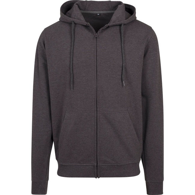 Charcoal - Front - Build Your Team Mens Terry Zip Hoodie
