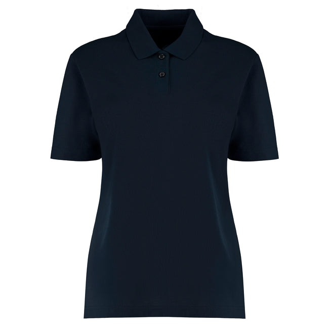 Navy - Front - Kustom Kit Womens-Ladies Workforce Polo