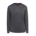 Charcoal - Front - Brook Taverner Mens Boston V-Neck Jumper