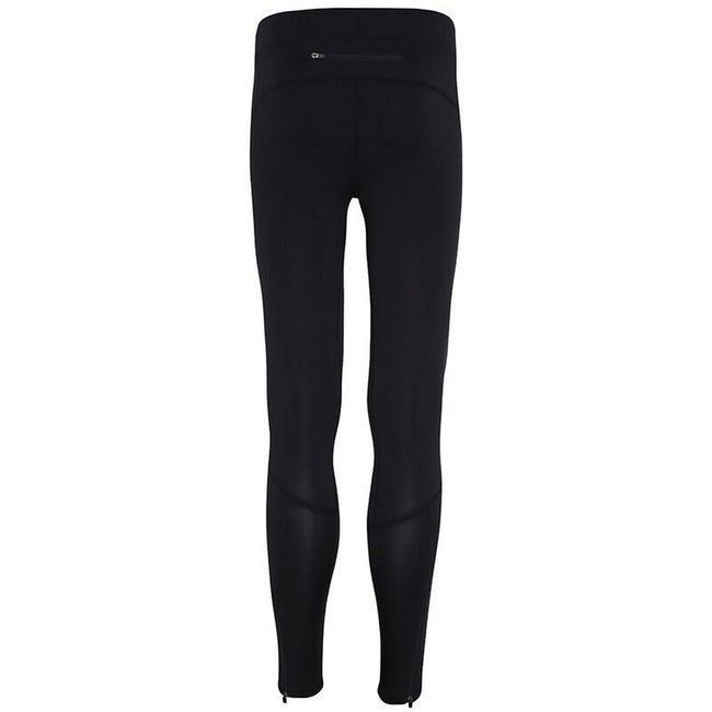Black - Back - TriDri Mens Ankle Zip Training Leggings