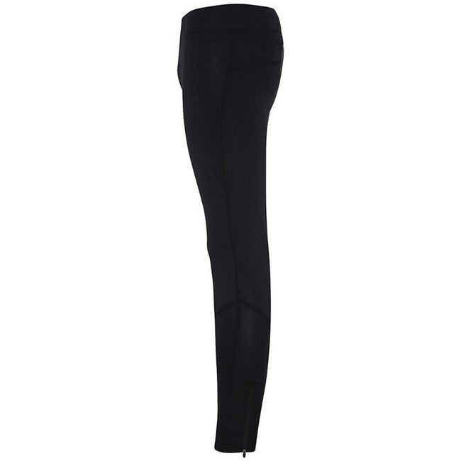 Black - Side - TriDri Mens Ankle Zip Training Leggings