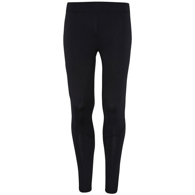 Black - Front - TriDri Mens Ankle Zip Training Leggings