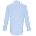 Pale Blue - Back - Premier Mens Stretch Fit Poplin Long Sleeve Shirt
