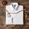White - Lifestyle - Premier Mens Stretch Fit Poplin Long Sleeve Shirt