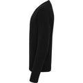 Black - Side - Premier Mens Essential Acrylic V-Neck Sweater