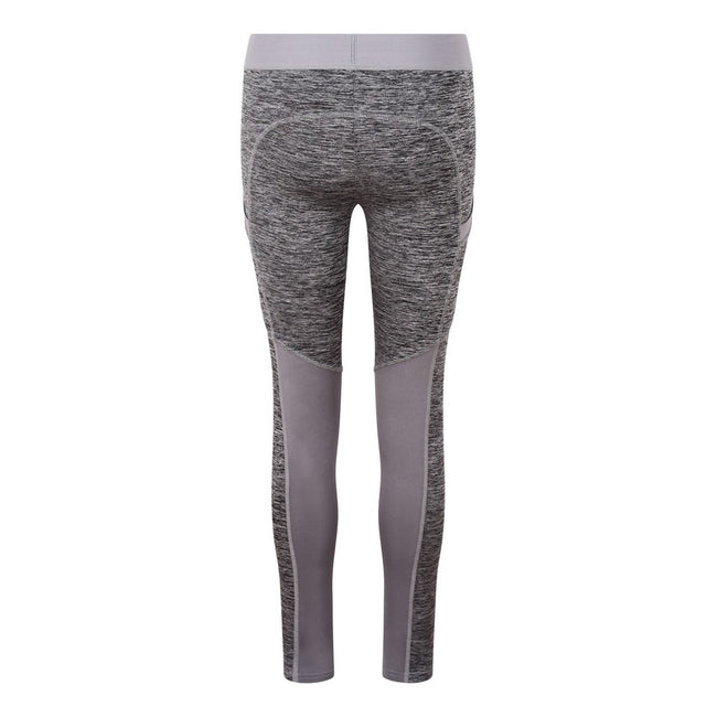 Grey Melange-Grey - Back - AWDis Just Cool Womens-Ladies Girlie Cool Dynamic Leggings
