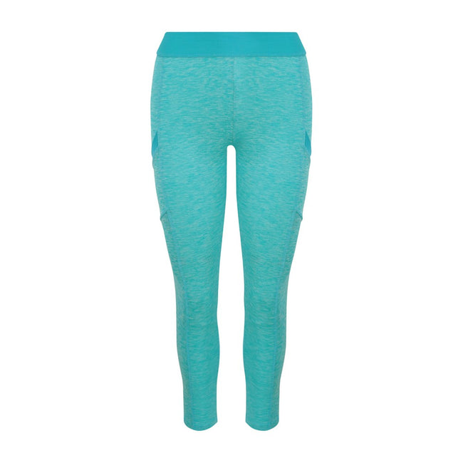 Ocean Melange-Ocean - Front - AWDis Just Cool Womens-Ladies Girlie Cool Dynamic Leggings