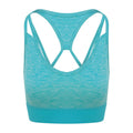 Ocean Melange - Front - AWDis Just Cool Womens-Ladies Girlie Cross Back Crop Top