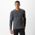 Dark Grey Marl - Front - Kustom Kit Mens Long Sleeve Superwash 60c Fashion Fit Tee