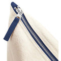 Natural-Navy - Back - Westford Mill Dipped Base Canvas Accessory Bag (Pack of 2)