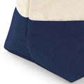 Natural-Navy - Side - Westford Mill Dipped Base Canvas Accessory Bag (Pack of 2)