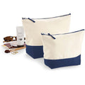 Natural-Navy - Lifestyle - Westford Mill Dipped Base Canvas Accessory Bag (Pack of 2)
