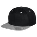 Black- Silver - Front - Yupoong Mens The Classic Premium Snapback 2-Tone Cap (Pack of 2)