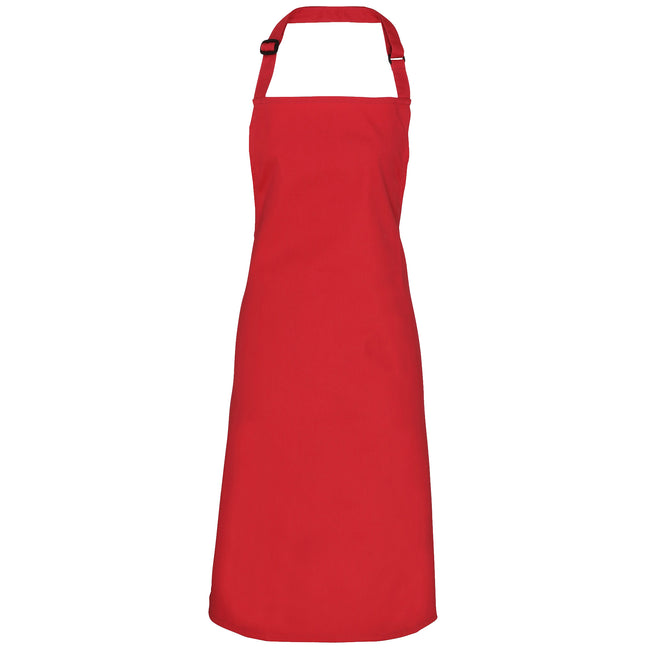 Red - Front - Premier Adults Unisex Adjustable Bib Apron (Pack of 2)