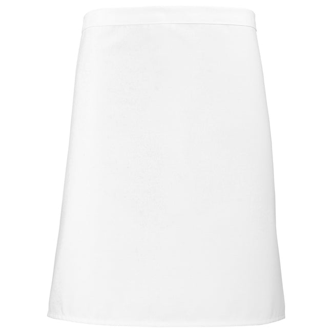 White - Front - Premier Short Bar Apron - Workwear (Pack of 2)