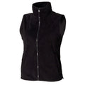 Black - Front - Henbury Womens-Ladies Sleeveless Microfleece Anti Pill Lightweight Jacket - Bodywarmer