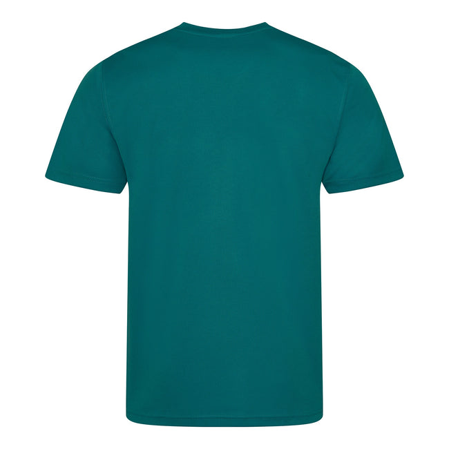 Fire Red - Side - Just Cool Mens Performance Plain T-Shirt