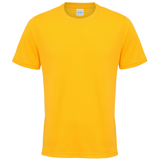 Gold - Front - Just Cool Mens Performance Plain T-Shirt