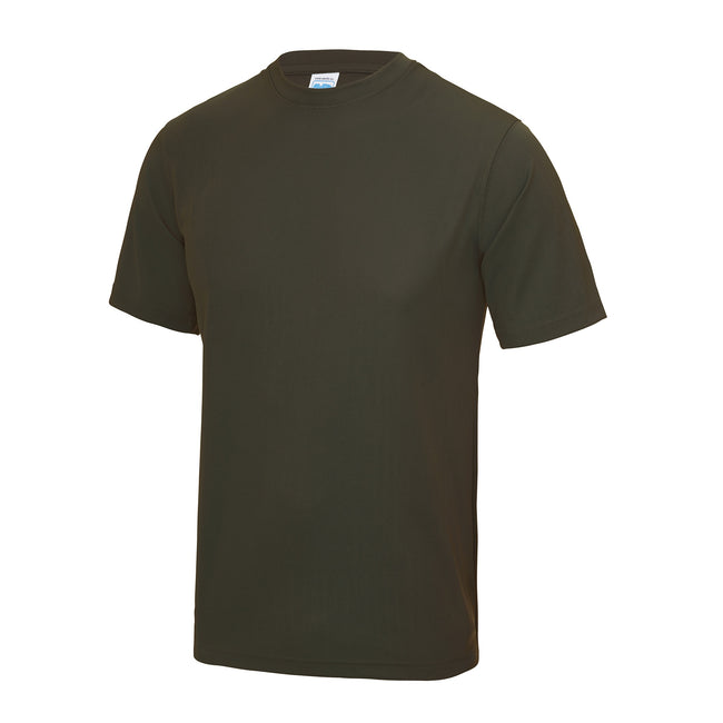 Heather Grey - Side - Just Cool Mens Performance Plain T-Shirt