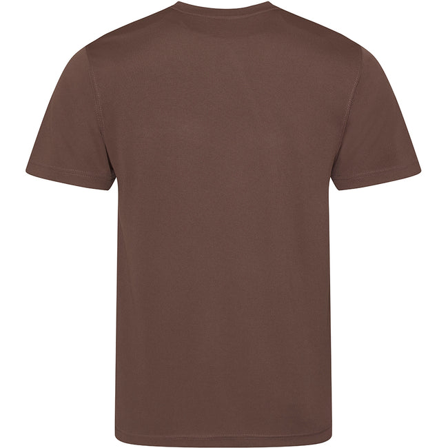 Hot Chocolate - Back - Just Cool Mens Performance Plain T-Shirt