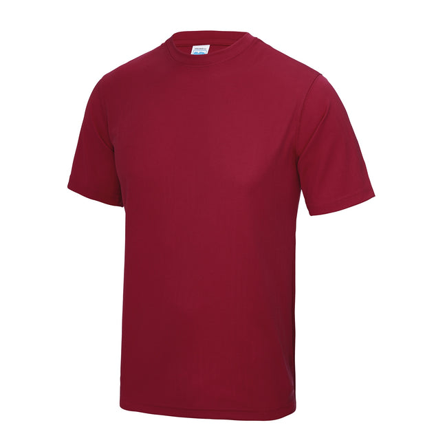 Olive - Side - Just Cool Mens Performance Plain T-Shirt
