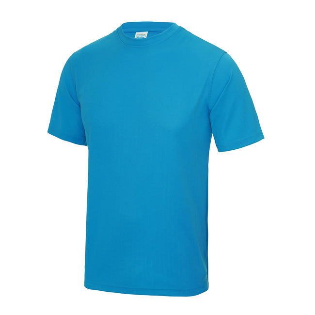 Plum - Back - Just Cool Mens Performance Plain T-Shirt