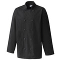 Black - Front - Premier Unisex Chefs Jacket (Pack of 2)