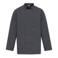 Steel Grey - Front - Premier Unisex Chefs Jacket (Pack of 2)
