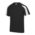 Electric Pink-Arctic White - Side - Just Cool Mens Contrast Cool Sports Plain T-Shirt