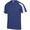 Royal Blue- Arctic White - Side - Just Cool Mens Contrast Cool Sports Plain T-Shirt
