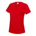 Fire Red - Back - Just Cool Womens-Ladies Sports Plain T-Shirt