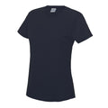French Navy - Back - Just Cool Womens-Ladies Sports Plain T-Shirt