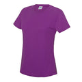 Jet Black - Front - Just Cool Womens-Ladies Sports Plain T-Shirt