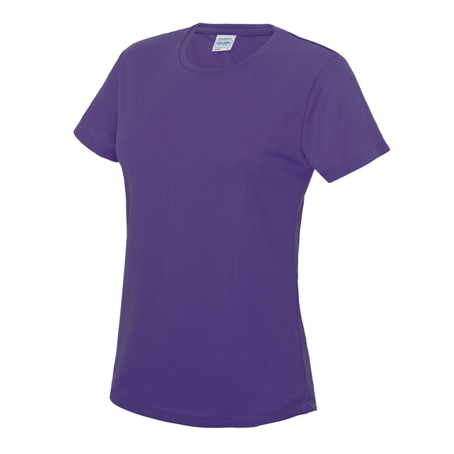 Reflex Blue - Side - Just Cool Womens-Ladies Sports Plain T-Shirt