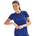 Sapphire Blue - Back - Just Cool Womens-Ladies Sports Plain T-Shirt
