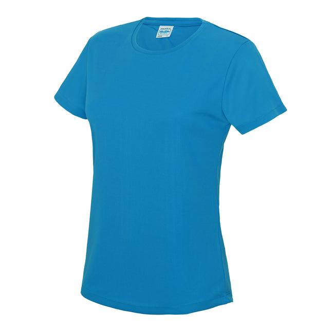 Sun Yellow - Front - Just Cool Womens-Ladies Sports Plain T-Shirt