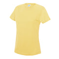 Blush Pink - Front - Just Cool Womens-Ladies Sports Plain T-Shirt