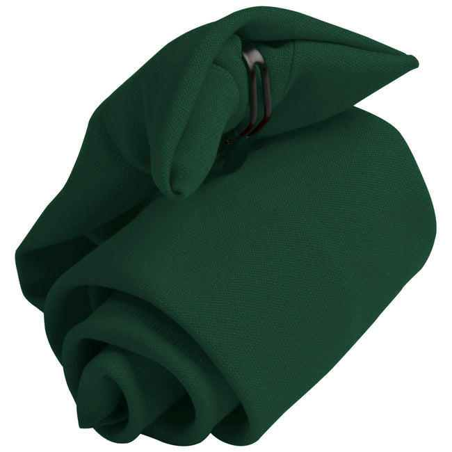 Bottle Green - Front - Premier Tie - Mens Plain Workwear Clip On Tie (Pack of 2)