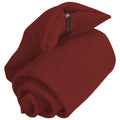 Burgundy - Front - Premier Tie - Mens Plain Workwear Clip On Tie (Pack of 2)