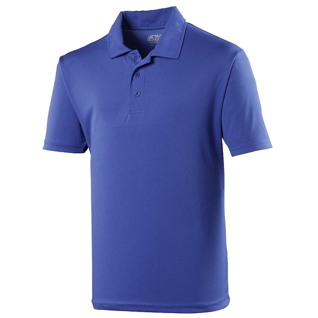 Royal - Front - Just Cool Kids Unisex Sports Polo Plain Shirt