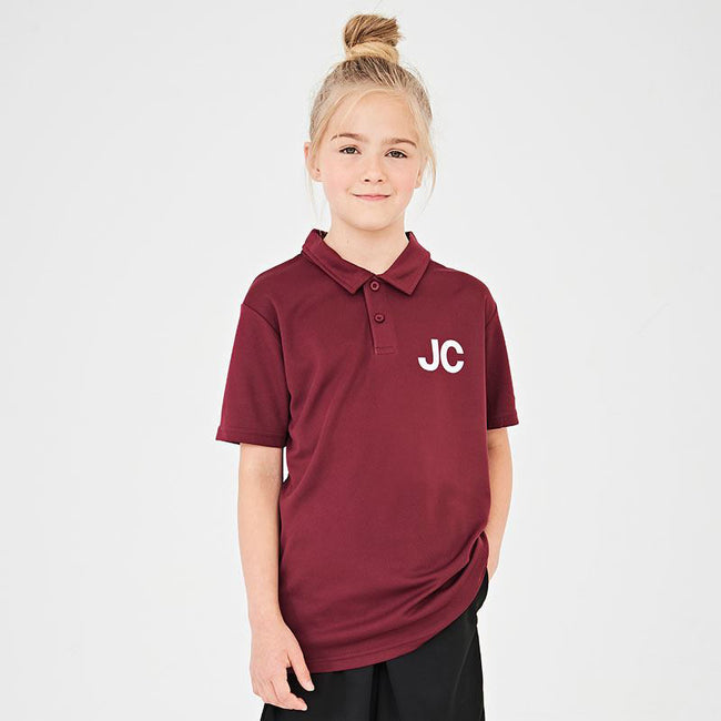 Arctic White - Pack Shot - Just Cool Kids Unisex Sports Polo Plain Shirt