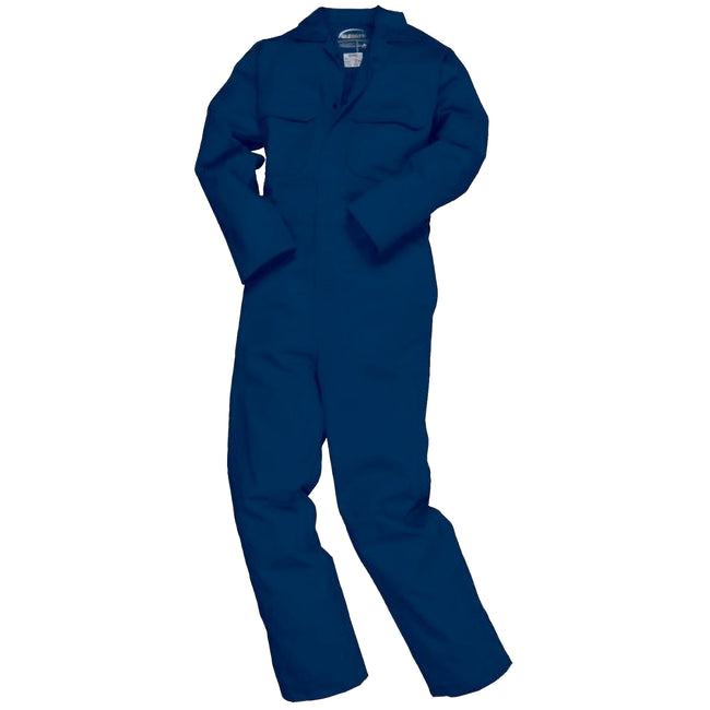 Navy - Front - Portwest Mens Bizweld Flame Retardant Coverall - Workwear (Pack of 2)