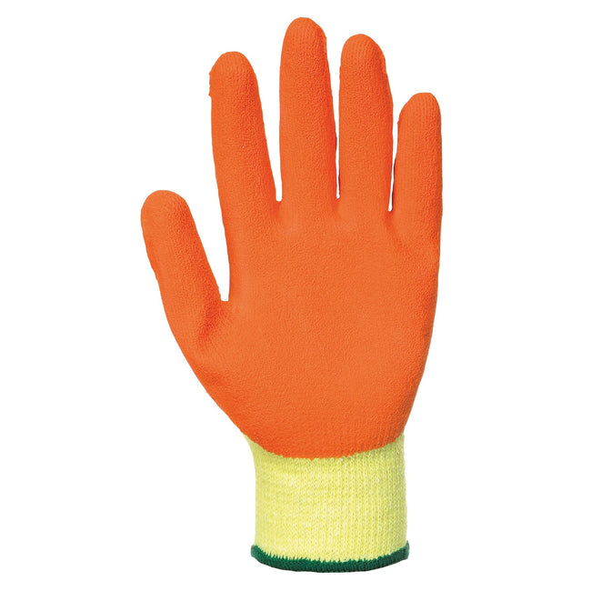Yellow- Orange - Front - Portwest Fortis Grip Gloves (A150) - Workwear - Safetywear (Pack of 2)